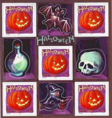 4 postzegels blok Frankrijk 2001
