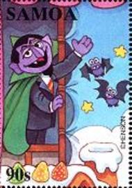 11 postzegel Graaf Tel Samoa