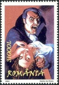 7 postzegel Dracula Roemenië 2004