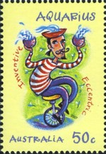 1 postzegel Waterman Australië 2007