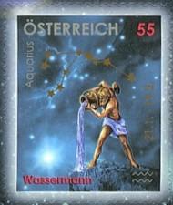 2 postzegel Waterman Oostenrijk 2006