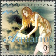 6 postzegel Waterman Bosnië Herzegovina 2004