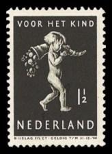 NVPH 327 - Kinderzegel 1939
