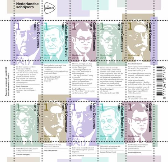 NVPH 3059/3063 - Nederlandse schrijvers