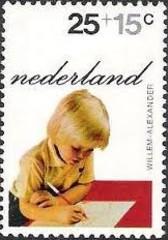NVPH 1020 - Kinderzegel 1972 - Willem-Alexander