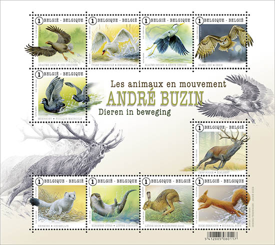 Postzegels België 2015 Dieren in beweging (André Buzin) 23 maart