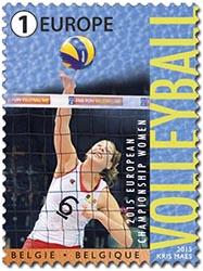 Postzegels België 2015 Europees Kampioenschap Volleyball 2015, Belgische Damesploeg 'The Yellow Tigers'7 septemberi