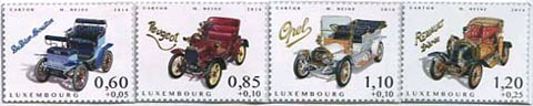 Automobiel postzegels Luxemburg 2014