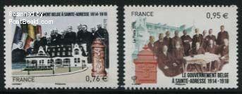 Belgische regering in Ballingschap postzegels frankrijk