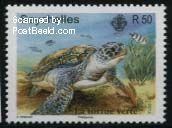 Schildpad postzegel Seychellen
