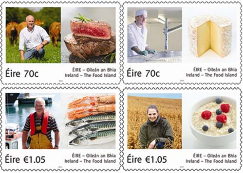 Ierland gastronomie postzegel
