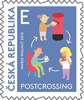 Postcrossing postzegel Tsjechië