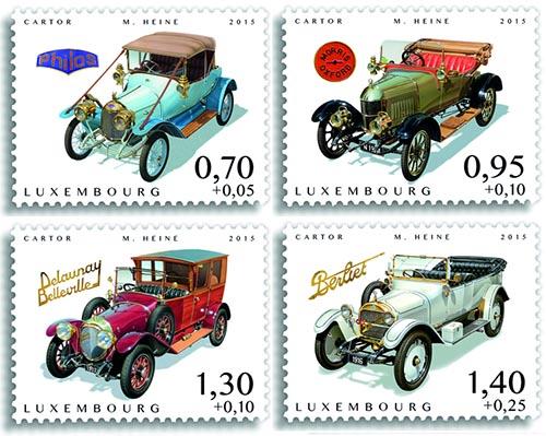 Oldtimer postzegels Luxemburg 2015