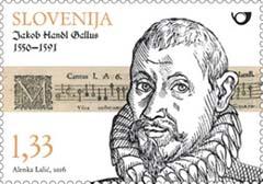 Jacobus Gallus postzegel