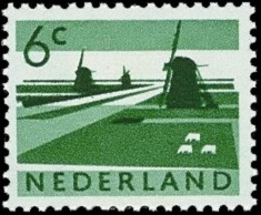 NVPH 793 - Polder met molens