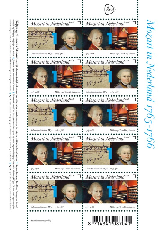 Vel Mozart in Nederland 1765-1766