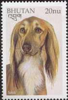 Saluki postzegel