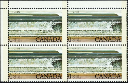 Canada 726 blok verschoven