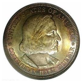 Halve dollar Columbus