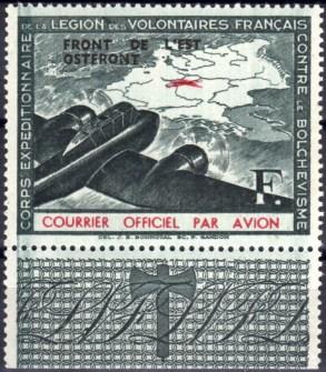 Frans Legioen luchtpost opdruk F donkergroen