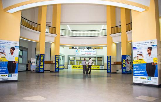 Het postkantoor in Kinshasa. Foto: SCPT