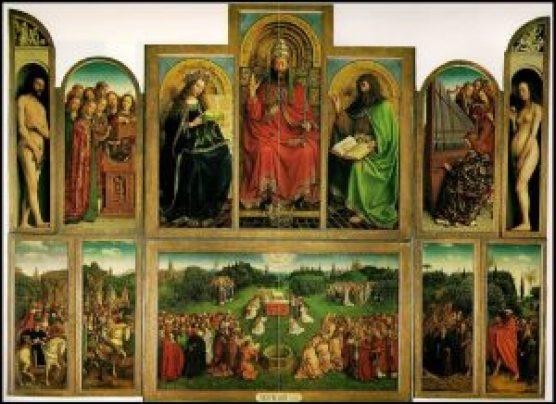 Aanbidding Lam Gods Jan van Eyck