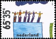 NVPH 1416 - Kinderzegel 1988 - Wedstrijdzwemmen