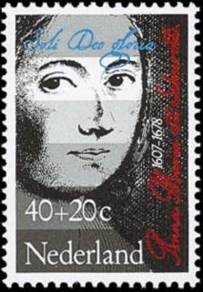 Anna Maria van Schurman-postzegel (nvph 1153)