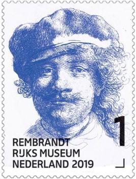 Rembrandt in het Rijksmuseum - postzegel 1