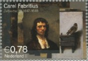 NVPH 2294 - Carel Fabritius - Zelfportret ca 1647-1648
