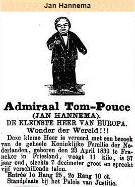 Jan Hannema alias Admiraal Tom-Pouce