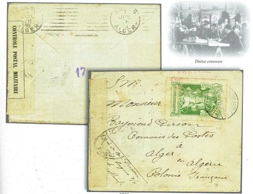 Brief met interneringszegel