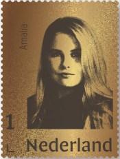 Gouden postzegel Prinses Amalia