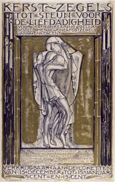 Affiche Weldadigheidszegel Willem Arondeus - 1923