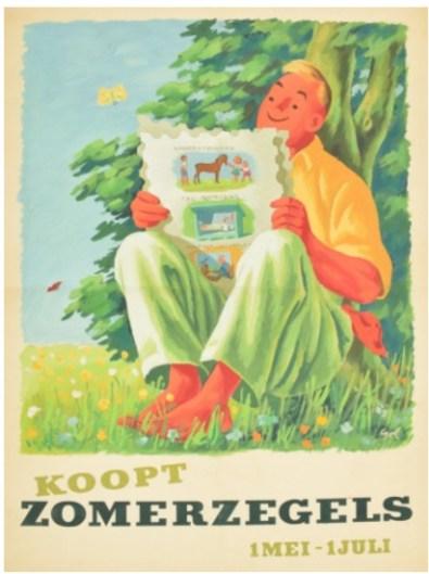 Affiche Zomerzegels 1950