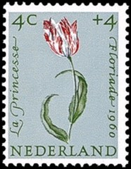 NVPH 738 - Zomerzegel 1960 - tulp