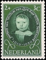 NVPH 666 - Kinderzegel 1955