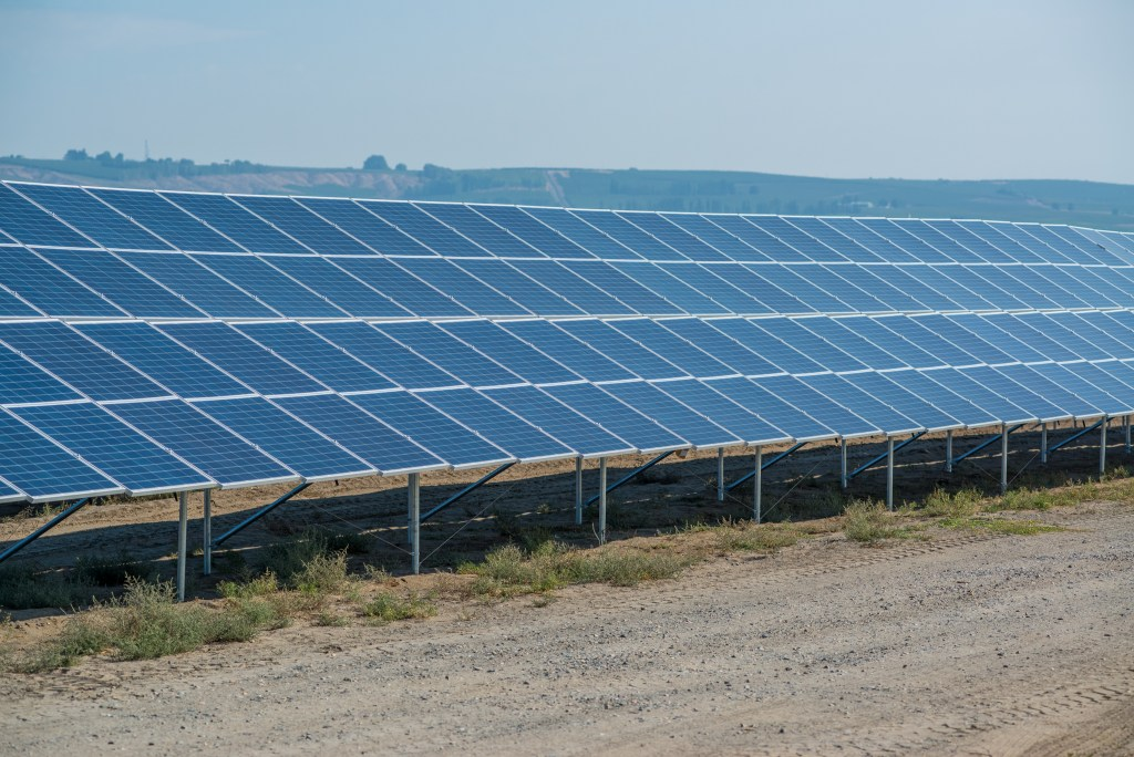 More than 11,000 solar panels were installed at this site.