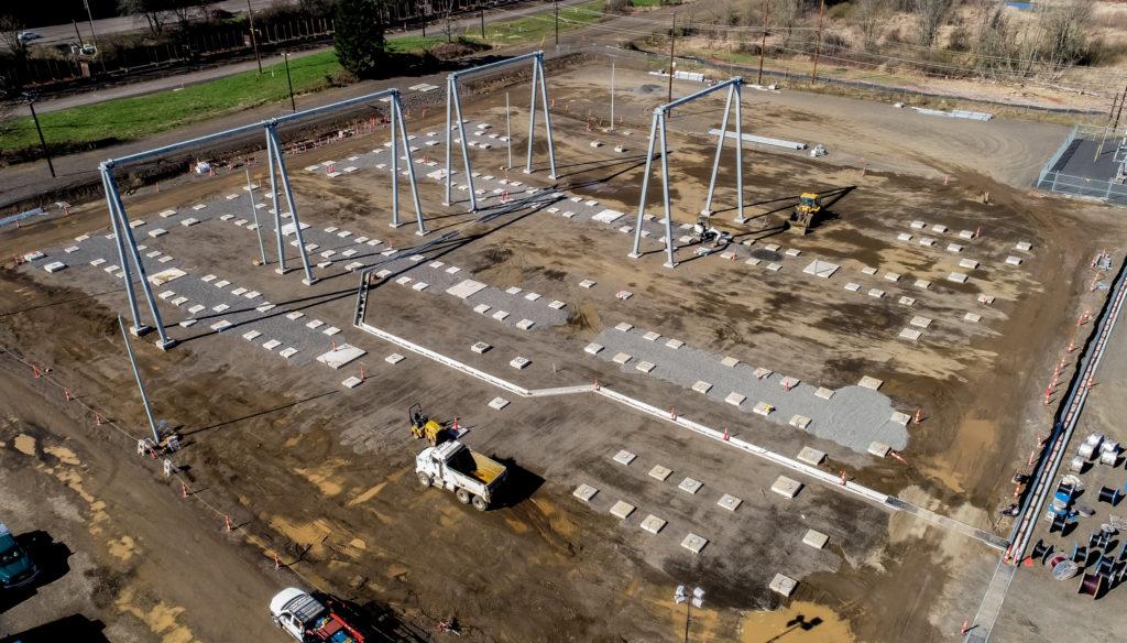 Substation construction in Linnton, Oregon