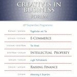 Panelists and Program for The Creatives in Business Forum