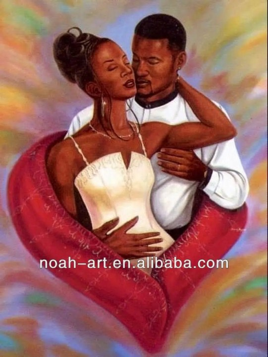Couple_Kissing_Canvas_African_Art_Paintings
