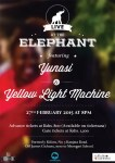 Yunasi and Yellow Light Machine Live At The Elephant This Friday