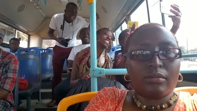 A Lumia selfie with some of my Kenyan friends on the Kampala Pioneer bus.