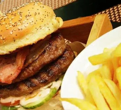 Bacon and Cheese steak Burger Sarova