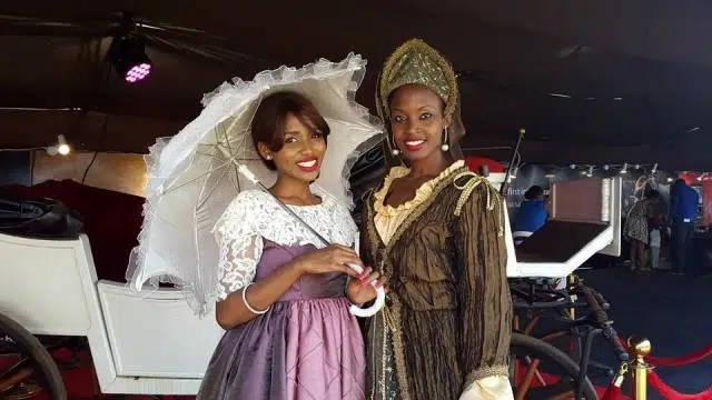 There were people who took seriously to the idea of dressing up in costumes of the period. Like these lovely ladies. Image credit - CBA Concours https://www.facebook.com/timeformore/photos/pcb.927181294003753/927180877337128/?type=3&theater