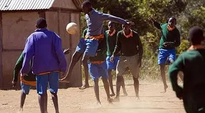 Kenyan boys playing football. Image from http://www.telegraph.co.uk/travel/hubs/greentravel/1586109/The-Responsible-Tourism-Awards-2008.html
