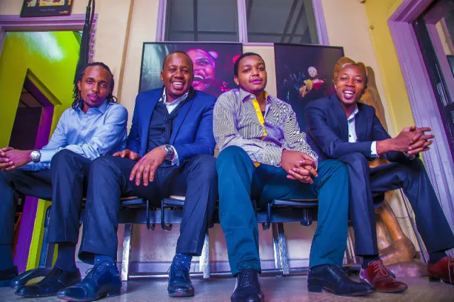 BAND MEMBERS (L-R) ISAAC KIMETTO (BASS), EDWARD PARSEEN (SAX, TRUMPET, VOCALS) MOSES NJOROGE (KEYS, PRODUCTION), SHABAAN MUSYOKA (DRUMS). Image courtesy of Safaricom