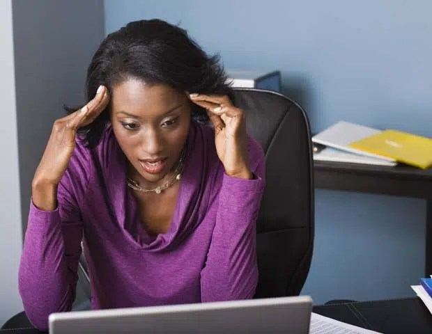Stressed woman. Image from http://ow.ly/ZEo8q
