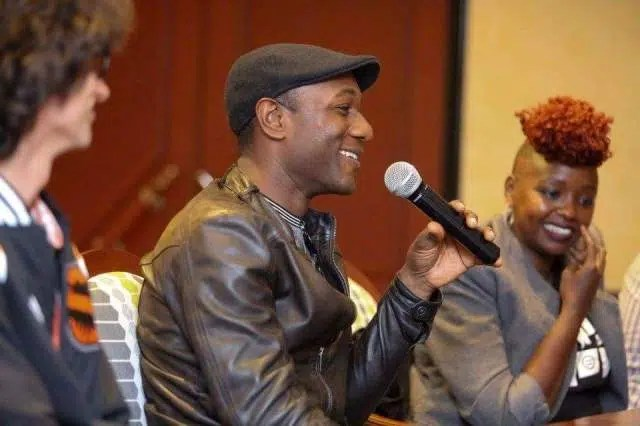 Aloe Blacc with Muthoni the Drummer Queen