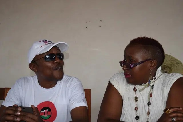 Maina Kageni and I as I interview him. Photo Credit - Thorn Mulli.